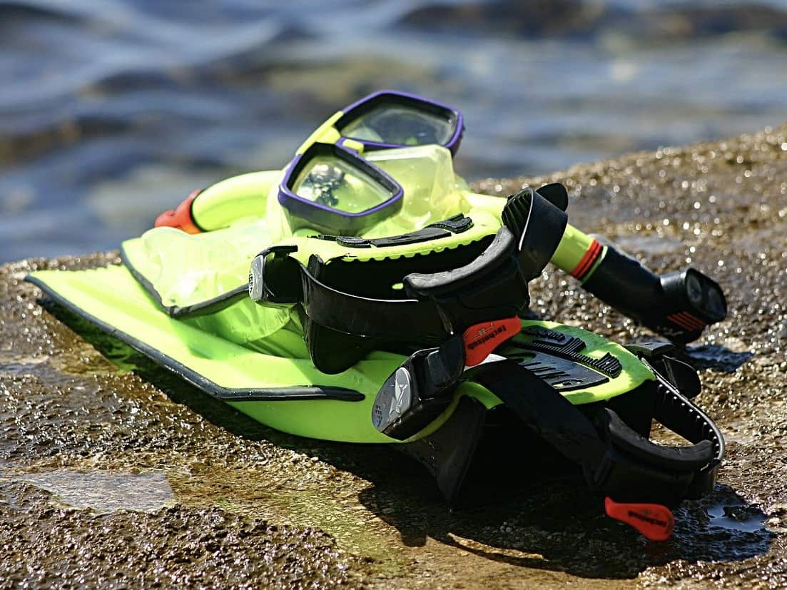 Snorkeling gear requirements are simple, mask, fins and snorkel
