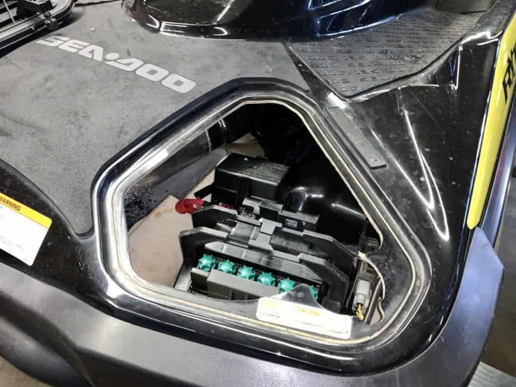Some Sea-Doos have batteries under a rear panel