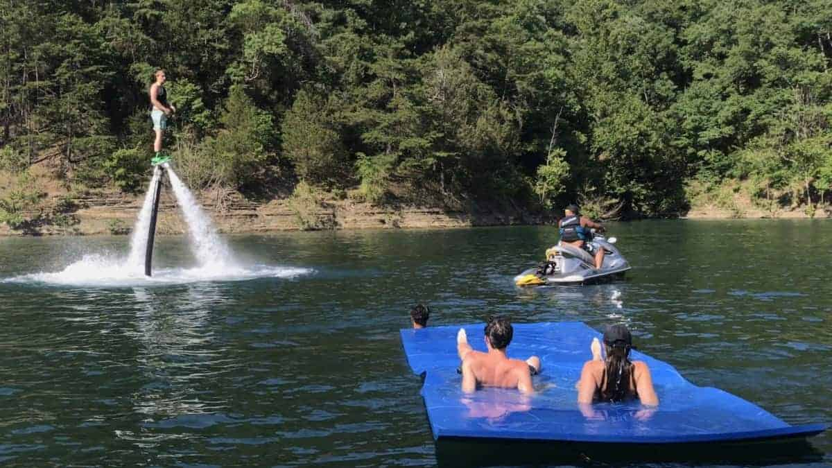 Fly boarding is another way to enjoy your jet ski
