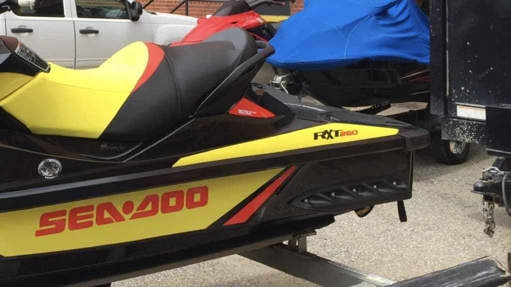 Sea-Doo RXT sponsons are not adjustable