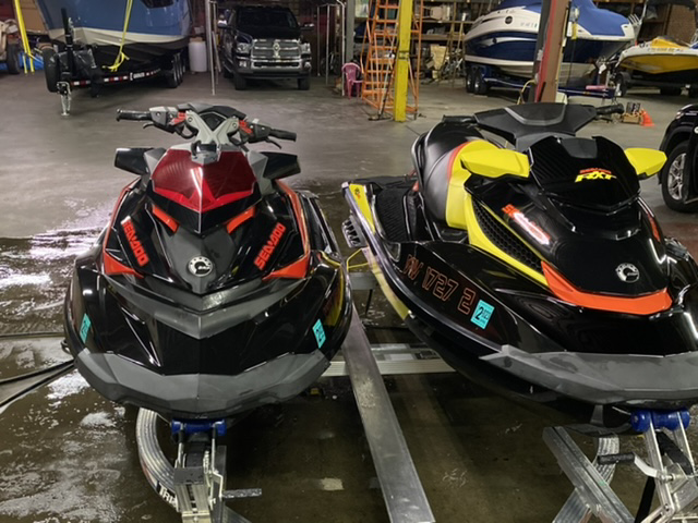 Sea Doo RXT and RXP on trailer