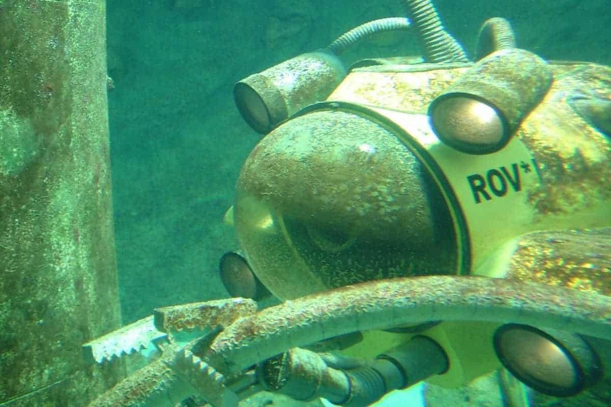 photo of single person deep submersible exploration submarine