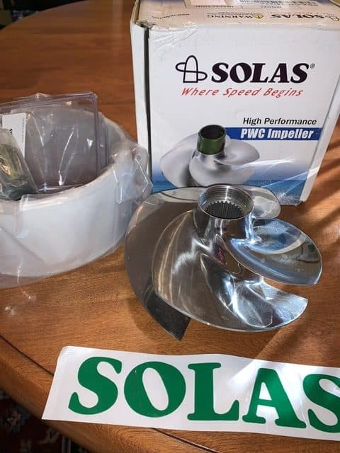 Photo of Solas prop for Sea Doo with box and wear ring