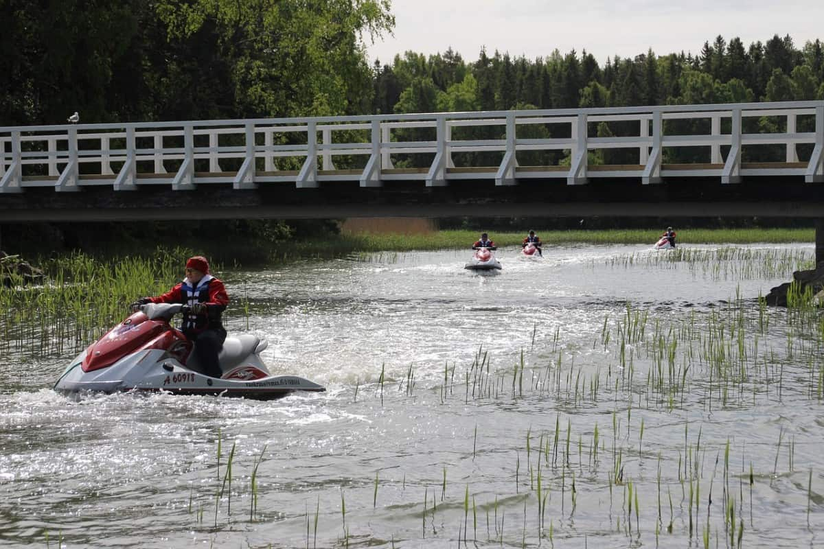 Guided jet ski tours are one way to make money
