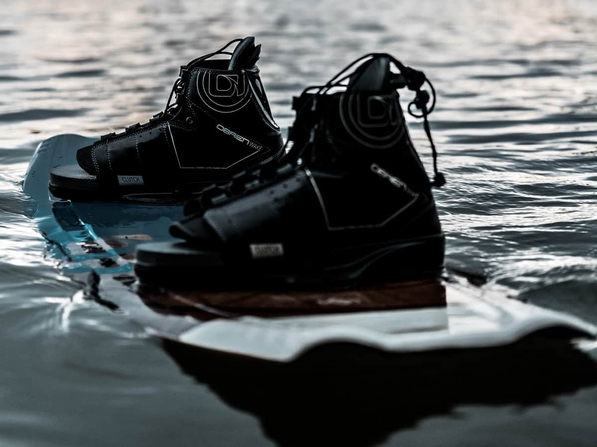 Wakeboard floating on water. Choose the right size and type wakeboard for your size and ability