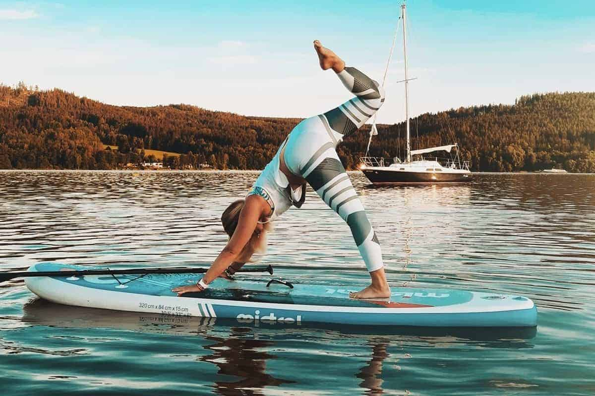 Clothing for paddle board yoga