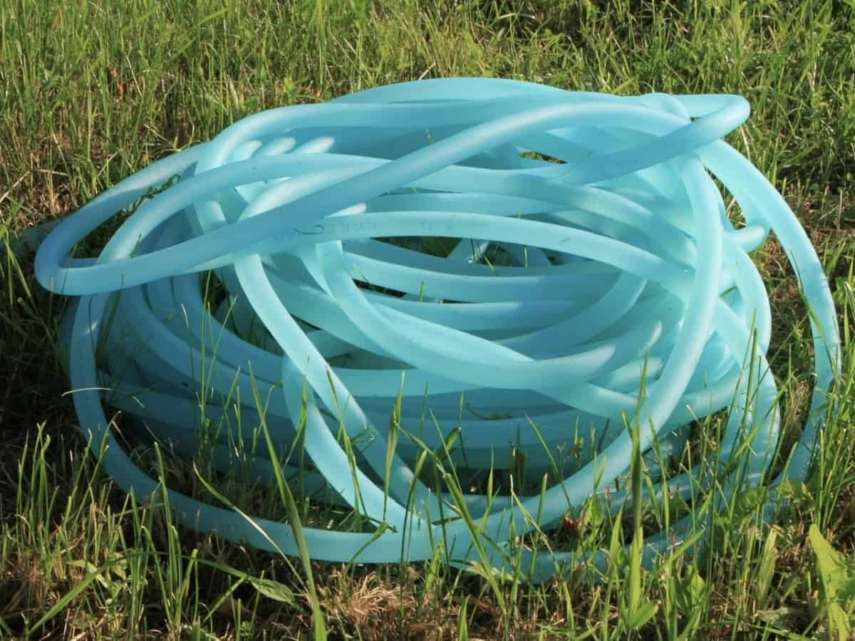 Garden hoses like this one can't be used for snorkeling