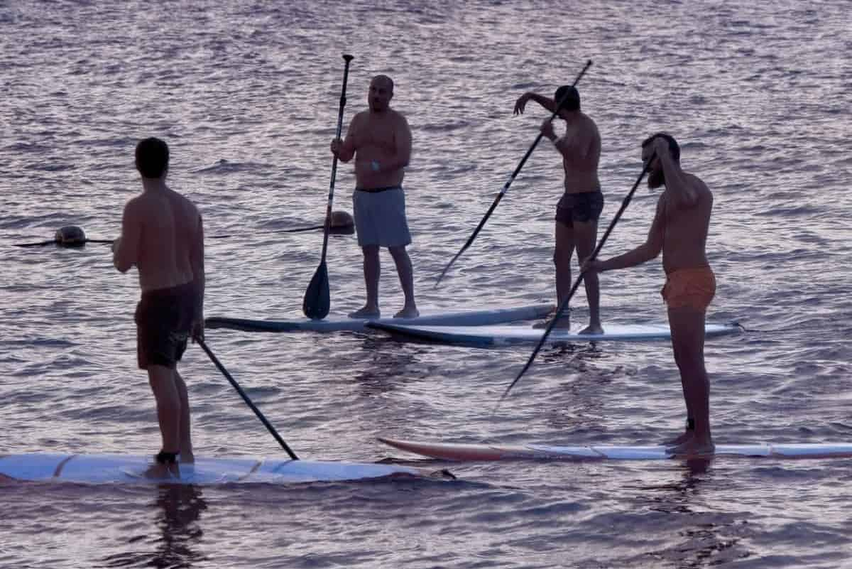 Connelly Paddle boards are a high quality brand, this image shows two paddle boarder in the distance
